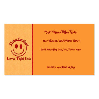 Anti-Football Humor Pack Of Standard Business Cards