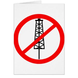 Anti-Fracking Symbol Greeting Card