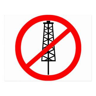 Anti-Fracking Symbol Postcard