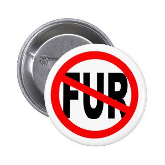 Anti Fur Design 6 Cm Round Badge