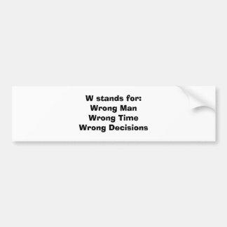 Anti-George Bush bumper sticker