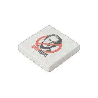 Anti-George Bush Stone Magnet