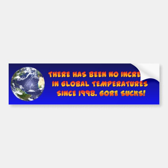 Anti Global Warming Bumper Sticker