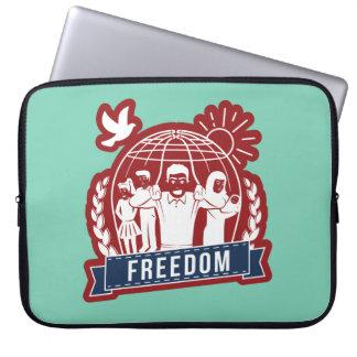 ANTI-GLOBALISM/FREEDOM - England, USA Laptop Sleeves