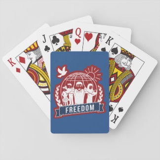 ANTI-GLOBALISM/FREEDOM - England, USA Playing Cards