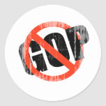 ANTI-GOP Faded.png Round Stickers