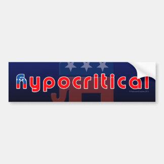 Anti-GOP Hypocritical Bumper Sticker
