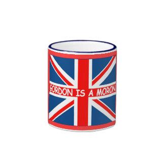 Anti Gordon Brown Brish humour funny Ringer Mug