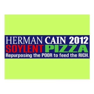 Anti Herman Cain 2012 President SOYLENT Design Postcard