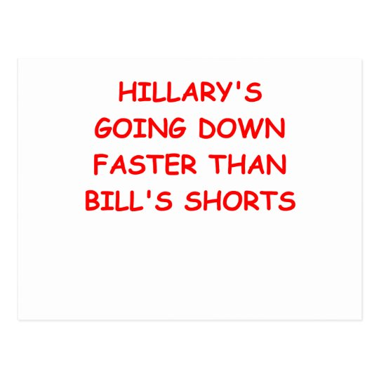 anti hilary clinton postcard