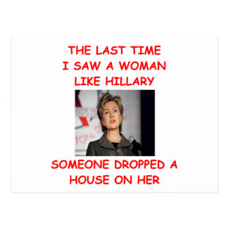 anti hillary clinton postcard