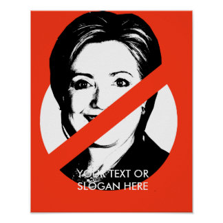 ANTI-HILLARY CLINTON POSTER