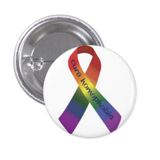 anti homofobia 3 cm round badge