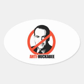Anti-Huckabee Oval Sticker