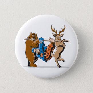 Anti Hunting Animal Revenge 6 Cm Round Badge