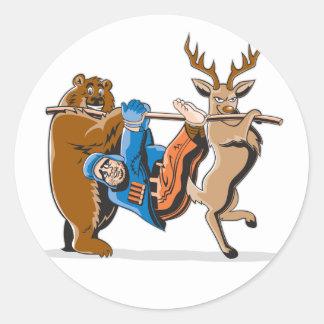 Anti Hunting Animal Revenge Classic Round Sticker