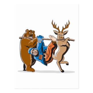 Anti Hunting Animal Revenge Postcard