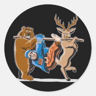 Anti Hunting Animal Revenge Round Sticker