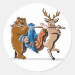 Anti Hunting Animal Revenge Round Stickers