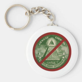 Anti Illuminati keychain