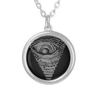 Anti-Illuminati Round Pendant Necklace