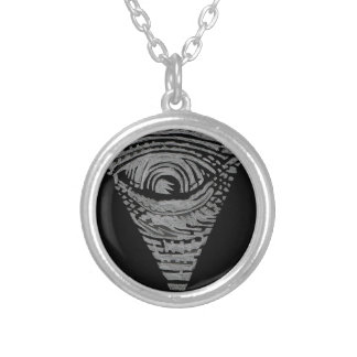 Anti-Illuminati Silver Plated Necklace