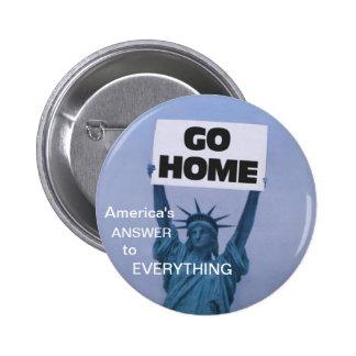 Anti-Immigration 6 Cm Round Badge