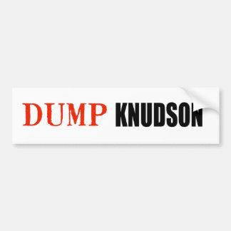 ANTI-KNUDSON BUMPER STICKERS