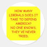 anti liberal anti obama joke round stickers