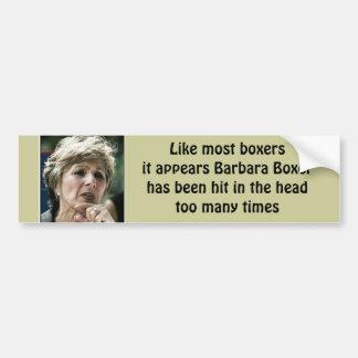 Anti Liberal- Barbara Boxer Bumper Sticker