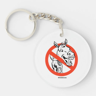 Anti-Liberal Double-Sided Round Acrylic Key Ring