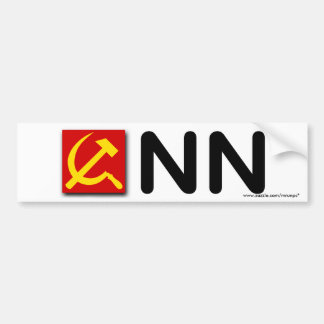 "Anti Liberal Media ""Communist News Network"" Car Bumper Sticker"
