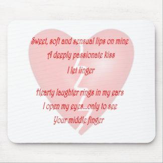 Anti-Love Anti-Valentine's Day poem Mouse Mats