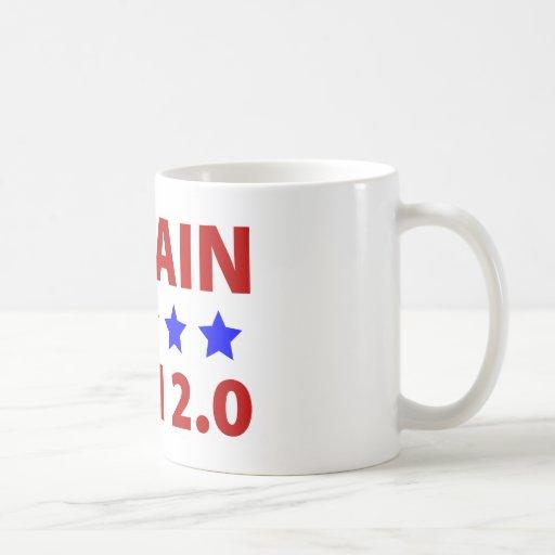 Anti McCain Bush 2.0 Coffee Mugs