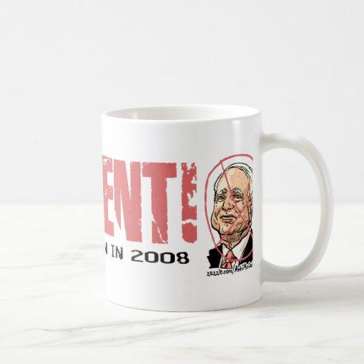 Anti-McCain Circle Coffee Mugs