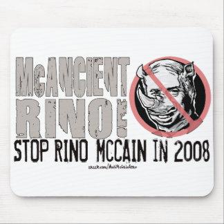 Anti-McCain Circle Rino Mouse Pad