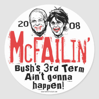 Anti McCain Palin McFailin Stickers