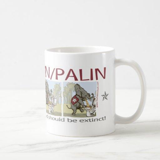 Anti McCain Palin Sick Elephants Coffee Mug