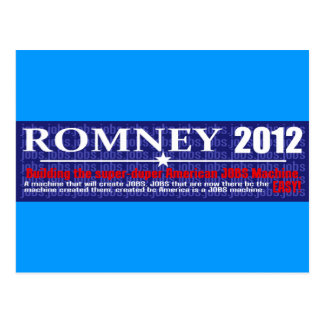 Anti Mitt Romney 2012 President JOB MACHINE Design Post Cards
