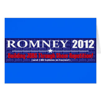 Anti Mitt Romney 2012 President REPETITION Design Greeting Card