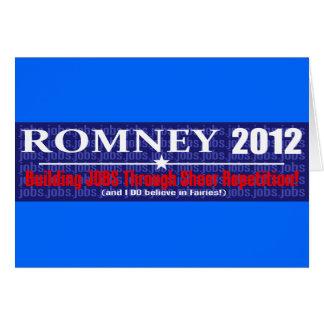Anti Mitt Romney 2012 President REPETITION Design Greeting Card