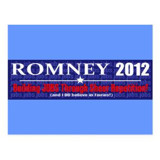 Anti Mitt Romney 2012 President REPETITION Design Postcard