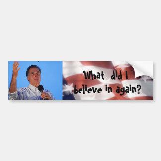 Anti Mitt Romney Bumper Sticker