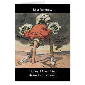 Anti-Mitt Romney with Head in the Sand Greeting Card