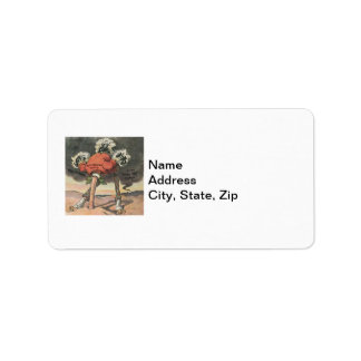 Anti-Mitt Romney with Head in the Sand Address Label