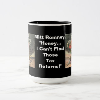 Anti-Mitt Romney with Head in the Sand Two-Tone Mug