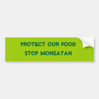Anti Monsanto Bumper Sticker