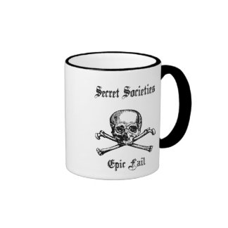 Anti New World Order B/W Ringer Coffee Mug