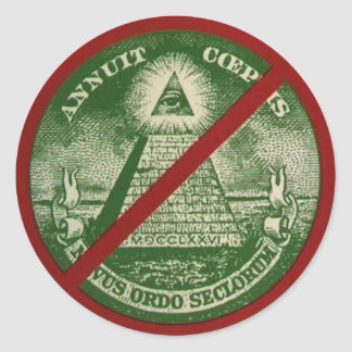 Anti-New World Order Sticker