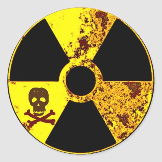 ANTI-NUCLEAR ENERGY PROTEST CLASSIC ROUND STICKER
